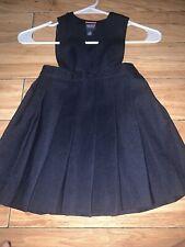 french toast girls size 4t navy blue uniform romper dress