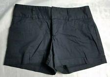 Daisy Fuentes Women 6 Black Onyx Zip Up Flat Casual Pockets Everyday Shorts