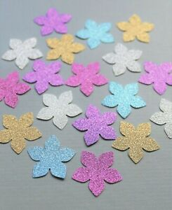 50 SPARKLY FLOWERS CARD MAKING CRAFT EMBELLISHMENTS SCRAPBOOK
