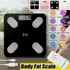 Smart Digital Bathroom Weight Fat Scale Body BMI Mobile BT Control USB Charger