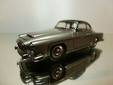 ECMACARS GREGOIRE 1956 COUPE - SILVER + BLACK 1:43 RARE - VERY GOOD - 8/12