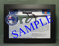 Austeyr Assault Rifle Australian Combined Forces - 1/6 Scale Framed for Display