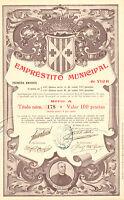 RARO, Emprestito Municipal de Vich, obligacion, Vich, 1904 (Emision 625)