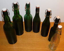 1920-1940 LOT 7 ancien BOUTEILLE de BIERE bottle bier FLASCHE VINTAGE porcelaine