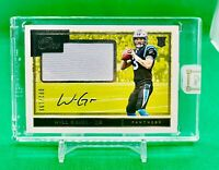 Will Grier 2019 Panini ONE Rookie Patch Autograph #/199 On-Card RC Auto Panthers