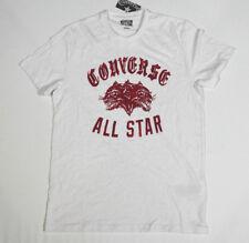 Nuovo All Star Converse T-Shirt Uomo Maglietta Mandrini Bianco TG. M 18 #240