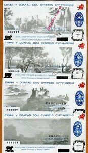 Set Wales, 10-1-5-10, Black Sheep, Castle Set, 1970 / 1971, P-NL, UNC