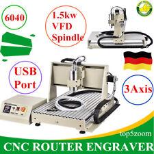 USB 3ejes 1.5KW CNC 6040Z Router MáQuina De Grabado 3D Cutter Grabador Fresadora