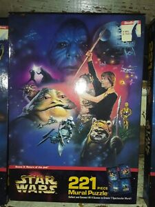 1997 MB STAR WARS 221 piece mural puzzle scene 3(SEALED NEW)