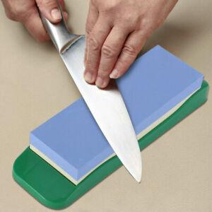 Premium Whetstone Sharpening Stone 1000/3000 Knife Sharpener W/ Plastic Holder