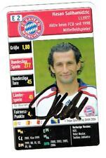 Hasan Salihamidzic Original Spielkarte Bayern München mit original Unterschrift!