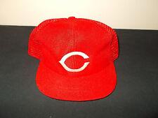 VTG-YOUTH SIZE 1980s Cincinnati Reds MLB mesh trucker snapback hat sku31