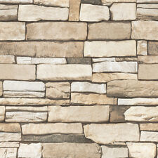 Stacked Stone Look Effect Contact Paper Wallpaper Self Adhesive Wall Stickers