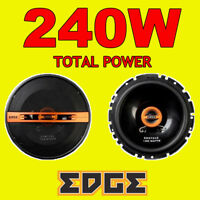 EDGE 240W TOTAL 4WAY 6.5 INCH 16.5cm CAR DOOR/SHELF COAXIAL SPEAKERS ORANGE PAIR