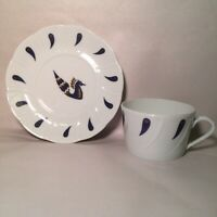 "L BERNARDAUD & CO LIMOGES AIR FRANCE JEAN PICART LE DOUX 2"" CUP AND SAUCER SET"