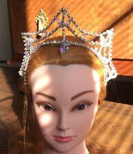 Professional Ballet Tiara Headpiece Silver AB Crystal Princess Fairy Variation