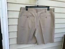 Izod GOLF Pleated Khaki Shorts Mens Size 40 Beige 100% POLYESTER