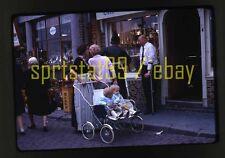 1967 European Street Shop Scene - Twins Antiques Kodak - Vintage 35mm Slide