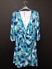 Polyester 3/4 Sleeve Formal Wrap Dresses