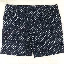 Womens Tommy Hilfiger Polka dot Navy Blue Casual Chino Shorts Pockets Size 12
