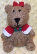 KNITTING PATTERN - Merry Beary Christmas Teddy Choc orange cover /15cms bear toy
