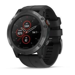 Garmin Fenix 5X Plus Sapphire HR GPS Multisports Hiking Watch Black/Slate