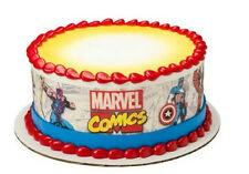 Marvel Comics Avengers image cake strips frosting icing sides #8372