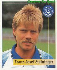 209 FRANZ-JOSEF STEINIGER GERMANY MSV DUISBURG STICKER FUSSBALL 1995 PANINI