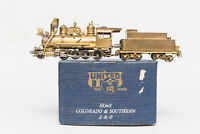 NEVER PAINTED Hon3 BRASS UNITED PFM C&S 2-8-0 BEAR TRAP SPARK ARRESTOR AIR TANK