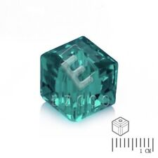 100pcs Crystal Beads Square Loose Spacer Jewelry Findings Light Emerald 4mm HC