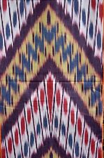 Summer SaIe!  IKAT   Baumwolle Meterware  Handarbeit  Mehrfarbig     Usbekistan
