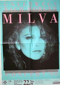 MILVA  1988  MAINZ + orig.Concert Poster - Plakat + A1 TOP 444