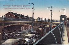 Ak WK I, Deutsche Eisenbahn. Herbesthal. Cöln-Aachen-Brüssel-Paris, 1916 n. Osna
