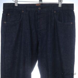 Taylor Stitch Lightweight Dark Raw Slubbed Denim Spring Weight Selvedge Jeans 33