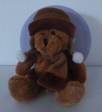 Nicotoy***Doudou chien ours marron bonnet Security blanket 16 cm