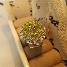 Peridot Zircon Natural Fine Gemstone Rings
