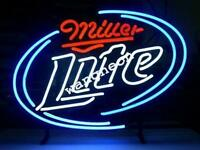 New  Miller Lite Beer Bar Hand-Made Real Neon Light Sign Pub Display FREE SHIP