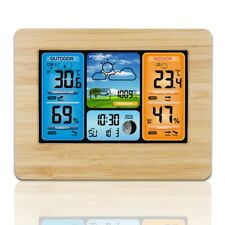 Digital Colok Wireless Weather Forecast Station Thermometer Humidity Alarm Clock