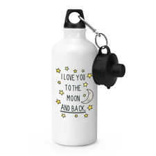 I Love You To The Moon And Back Sport Getränke Wasserflasche - Valentinstag
