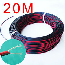 20M 2-Pin 24AWG Extension Wire Cable leads For 3528 5050 Single Color LED Strip