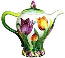 TULIP TEAPOT - ICING ON THE CAKE - JEANETTE McCALL - BLUE SKY - RETIRED