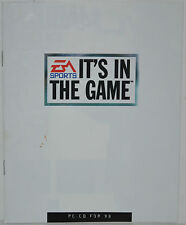 "EA SPORTS ""IT'S IN THE GAME""1998 Video Games CATALOG Madden 98, NBA 98, NHL 98.."