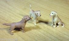 Hunting Dog Miniatures (3) Premium 1/24 Scale G Scale Diorama Accessory Items