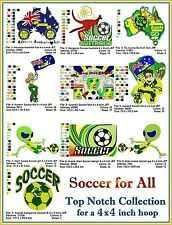 AUSTRALIAN SITE: Soccer for All Collection - for a 4 x 4 inch Hoop