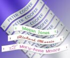 72 Woven Sew in School Name Tapes Name Tags Labels - High Quality School Labels