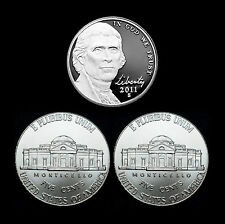2011 P+D+S Jefferson Nickel Set ~ All Coins In 2x2 Coin Flips