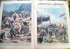 17) 1939 DOMENICA DEL CORRIERE GUERRA IN ALBANIA E FRANA A FLIMS IN SVIZZERA