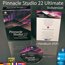 Pinnacle Studio 22 Ultimate Vollversion Box + DVD 4K Videosoftware +Handbuch NEU