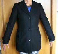 Franca Luca Damen Woll-Blazer Blazer Jacke schwarz, Größe 36, wie neu Schurwolle