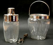 Cocktail Shaker Set,silver plated,Bar,Hotel,mid century,50s,50er,Top